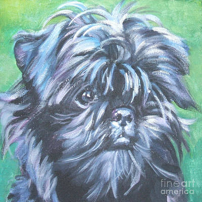 Painting - Affenpinscher Portrait by Lee Ann Shepard