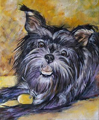 Affenpinscher Painting - Affenpinscher by Sonya Delaney