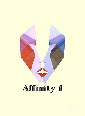 Painting - Affinity 1 Text by Michael Bellon