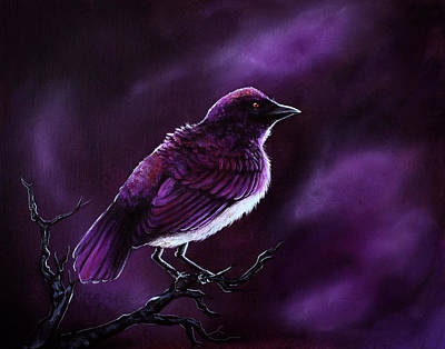 Starlings Painting - Affliction by Danielle Trudeau