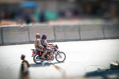 Photograph - Afghan Border Police On Motorcycle by Steven Green