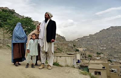 Afghan Family Art Print by Olivier Blaise