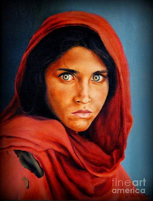 Afghan Girl Nation Geo  Original by Georgia's Art Brush