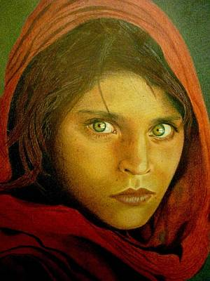 Mohammad Painting - Afghan Girl by Hanieh Mohammad Bagher