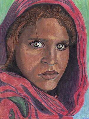Afghan Girl Art Print
