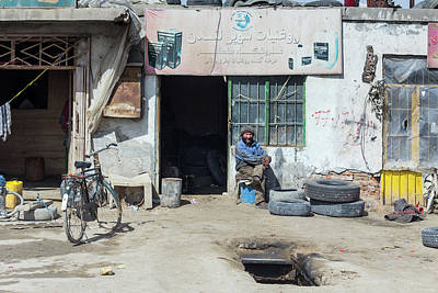 Photograph - Afghan Mechanic Shop by SR Green