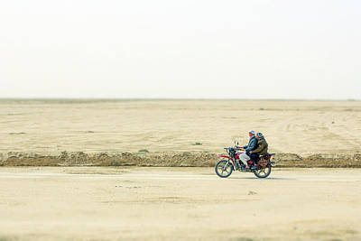 Photograph - Afghan Men On Motorcycle by Steven Green