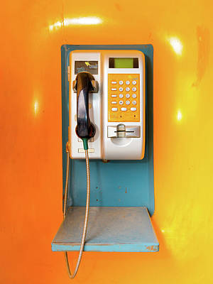 Photograph - Afghan Poosesh Telephone Booth by SR Green