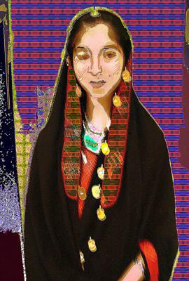 Afghani Girl Art Print