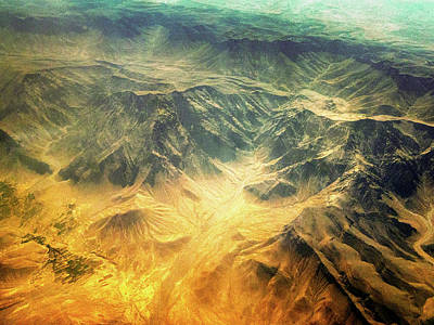 Photograph - Afghanistan Abstract Aerial by Steven Green
