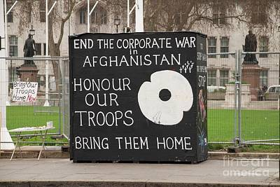 Photograph - Afghanistan War Protest In London by David Fowler