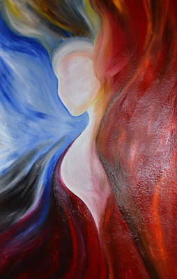 Aflame Painting - Aflame by Rhonda Richmond