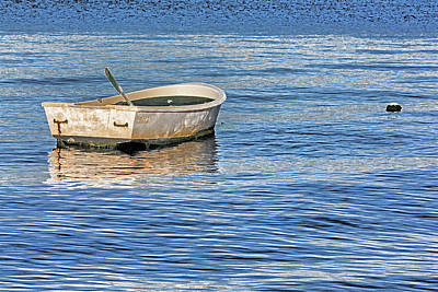 Photograph - Afloat - Dinghy At Rest By H H Photography Of Florida by HH Photography of Florida