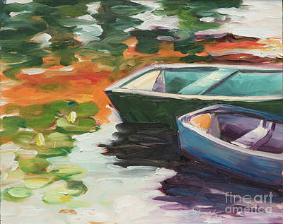 Painting - Afloat On Rock Pond by Lynne Schulte