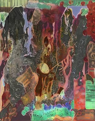 Digital Art - Afresco Ablaze by Jan Steadman-Jackson