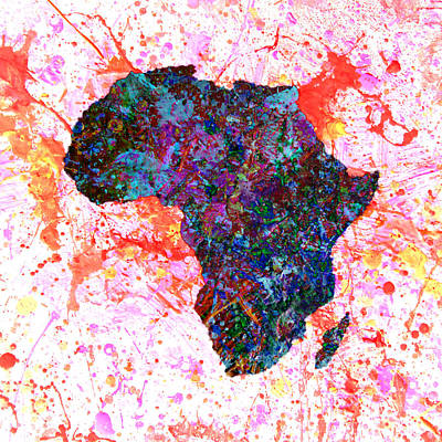 President Jackson Mixed Media - Africa 12a by Brian Reaves