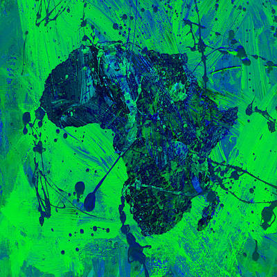 President Jackson Mixed Media - Africa 12c by Brian Reaves