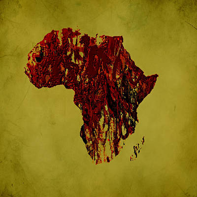 Malcolm X Mixed Media - Africa 2a by Brian Reaves