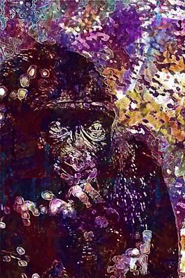 Digital Art - Africa Animal Ape Big Black  by PixBreak Art