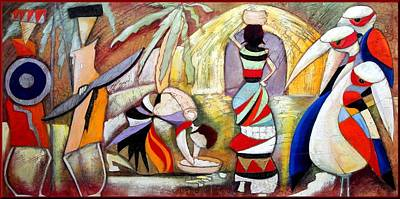 Contempory Art Galleries In Italy Painting - Africa by Anita