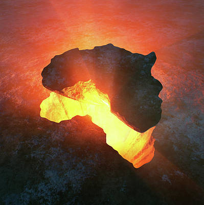 Photograph - Africa Conceptual Design by Johan Swanepoel