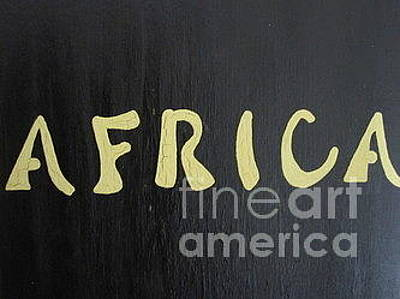 Painting - Africa - Cream On Black 1 Of 3 by Talisa Hartley