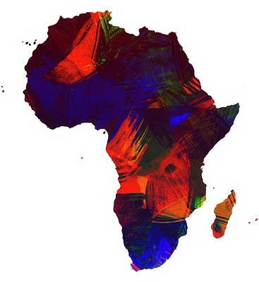 Continent Mixed Media - Africa by Mountain Dreams