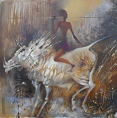 Painting - Africa. Monotype by Valentina Kondrashova