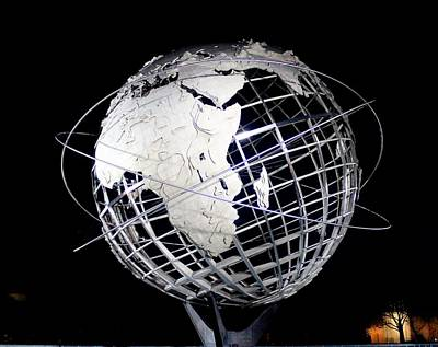 1963 Worlds Fair Photograph - Africa On The Unisphere by Karen Silvestri