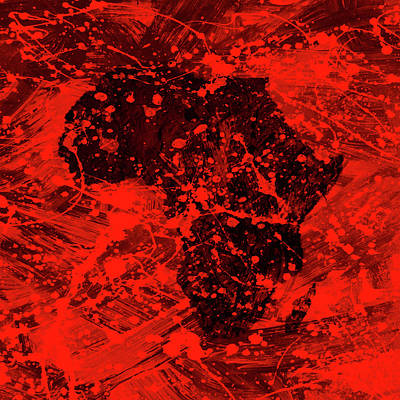 President Jackson Mixed Media - African Splatter by Brian Reaves