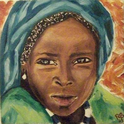 Volto Painting - Africa by Rita Bandinelli