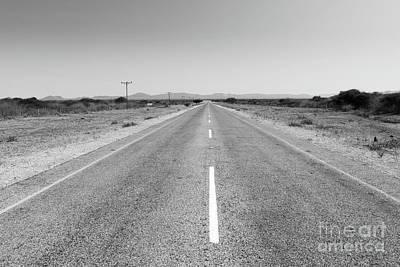 Photograph - Africa Road Black And White by Tim Hester