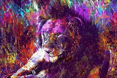 Digital Art - Africa Safari Tanzania Bush Mammal  by PixBreak Art