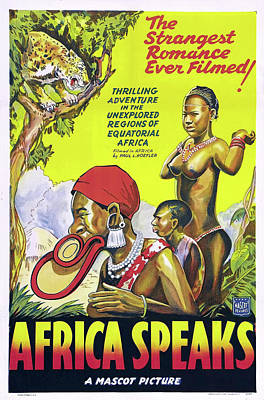 Classic Film Star Mixed Media - Africa Speaks 1930 by Mountain Dreams