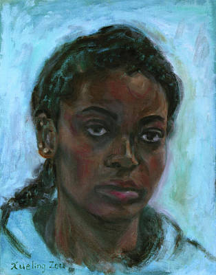 Painting - African American 15 by Xueling Zou