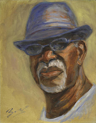 Painting - African American 4 by Xueling Zou