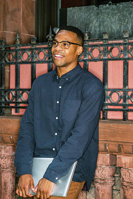Photograph - African American College Student Studying In New York 15082327 by Alexander Image
