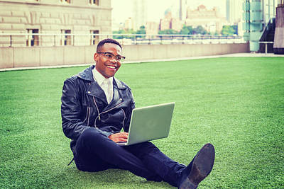 Photograph - African American College Student Studying In New York 15082351 by Alexander Image