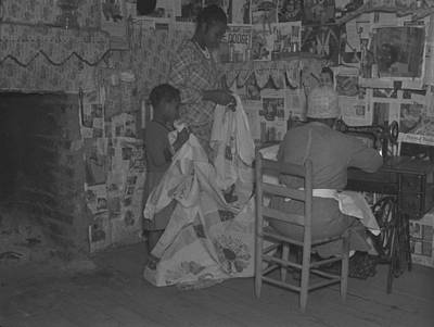 Quilt Art Photograph - African American Mother Is Assisted by Everett