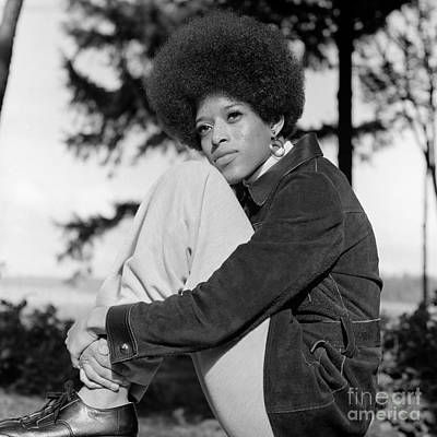 Contemplative Photograph - African American Woman Portrait, C.1970s by H. Armstrong Roberts/ClassicStock