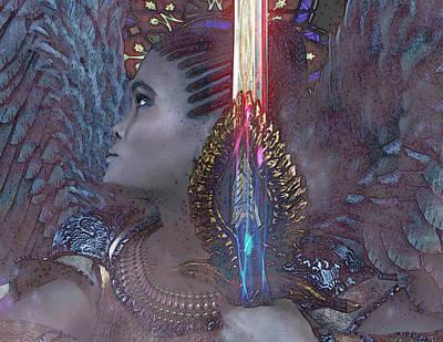 Digital Art - African Angel 4 by Suzanne Silvir