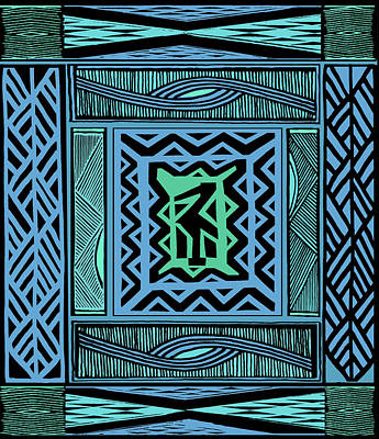 Digital Art - African Blue Bird by Vagabond Folk Art - Virginia Vivier