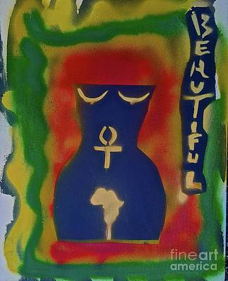 Liberal Painting - African Body by Tony B Conscious