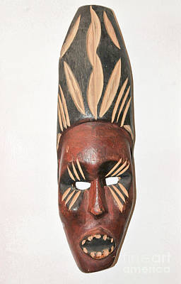 Religious Talisman Photograph - African Ceremonial Mask by Shay Levy