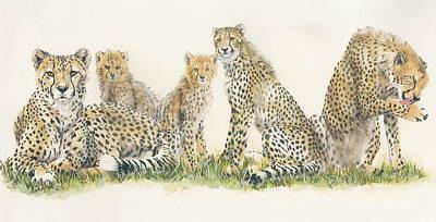 Cheetah Mixed Media - African Cheetah by Barbara Keith