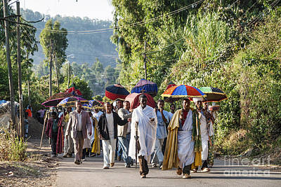 Photograph - African Christian Orthodox Funeral Procession In Gondar Rural Et by Jacek Malipan