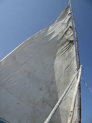 Exploramum Photograph - African Cloth Sail In The Afternoon Breeze by Exploramum Exploramum