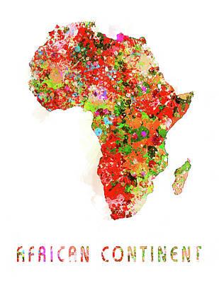 Digital Art - African Continent by Reynaldo Williams