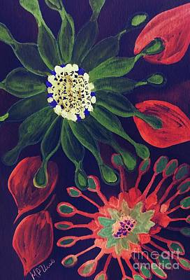 Mixed Media - African Daisies by Maria Urso