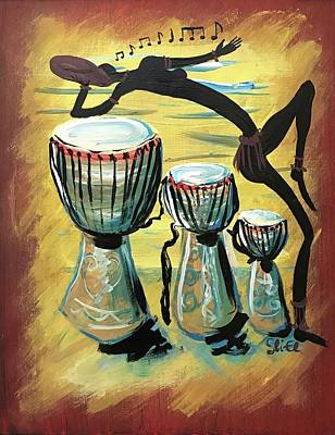 Painting - African Dance And Sing by Sean Ivy aka Afro Art Ivy
